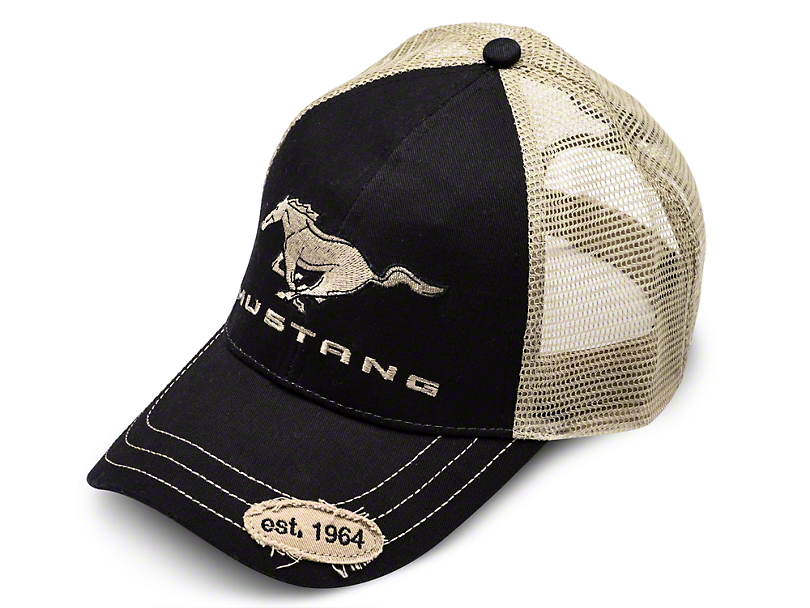 Ford Mustang Trucker Hat - Black and Tan
