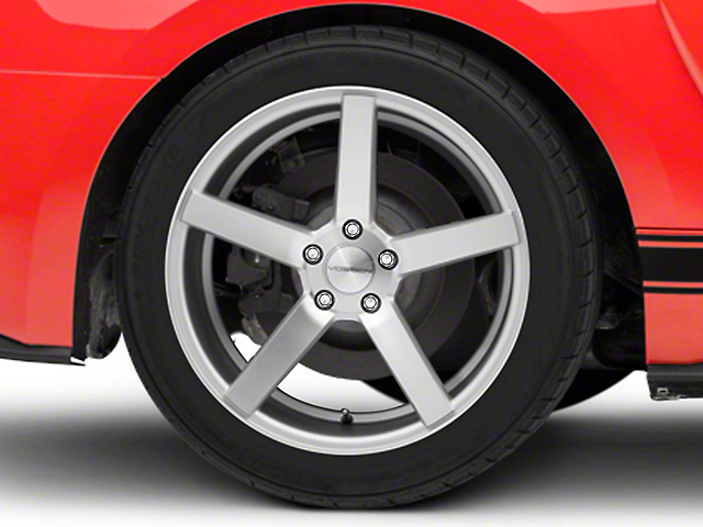 Vossen CV3-R Metallic Silver Wheel; Rear Only; 19x10 (15-21 Standard GT, EcoBoost, V6)