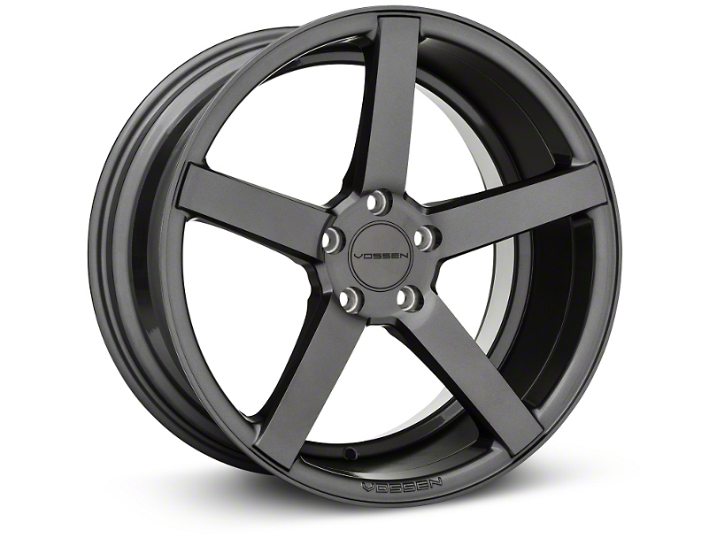 Vossen CV3-R Graphite Wheel; Rear Only; 19x10 (10-14 Standard GT, V6)