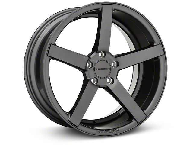 Vossen CV3-R Graphite Wheel; Rear Only; 19x10 (05-09 GT, V6)