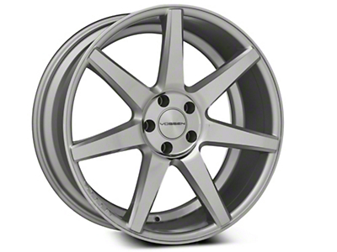 Vossen CV7 Silver Polished Wheel - 20x9 (15-18 GT, EcoBoost, V6)
