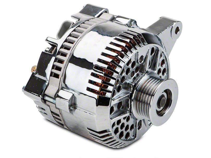 Powermaster Alternator - 200 Amp Chrome (96-98 GT)