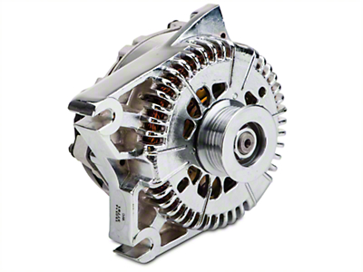 Powermaster Alternator - 200 Amp Chrome (96-01 Cobra, Bullitt; 03-04 Mach 1)
