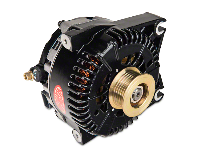 Powermaster Alternator - 200 Amp Black (96-01 Cobra, Bullitt; 03-04 Mach 1)