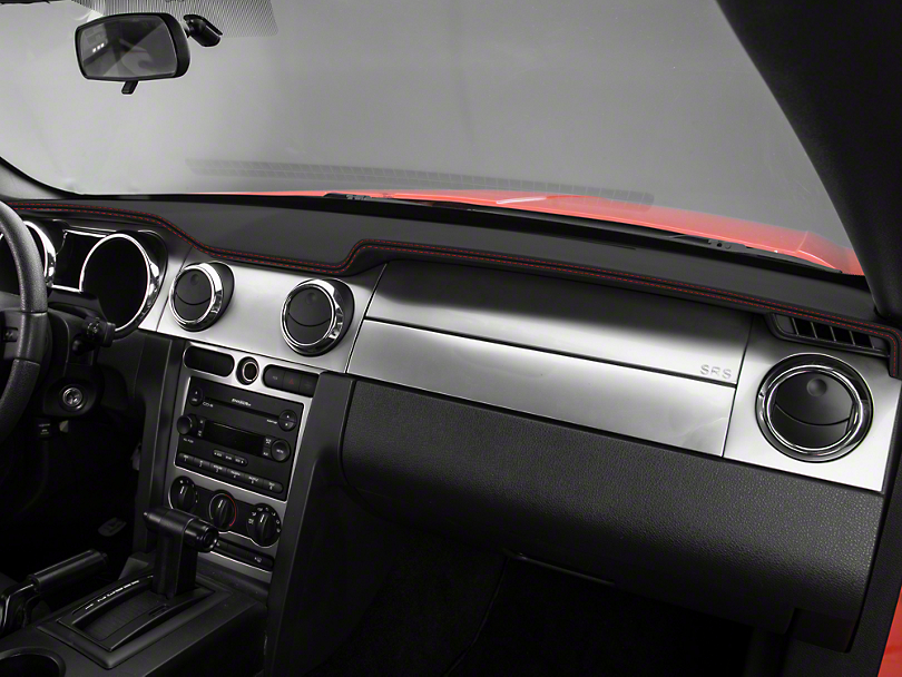 Alterum Mustang Premium Black Leather Dash Cover Red Sch 102216 05 09 All