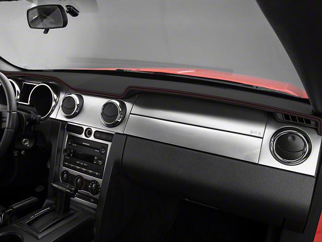 Alterum Mustang Premium Black Leather Dash Cover Red Sch 102216 05 09 All