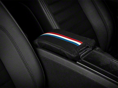 Alterum Premium Leather Arm Rest Cover w/ Padding - Red, White & Blue (10-14 All)