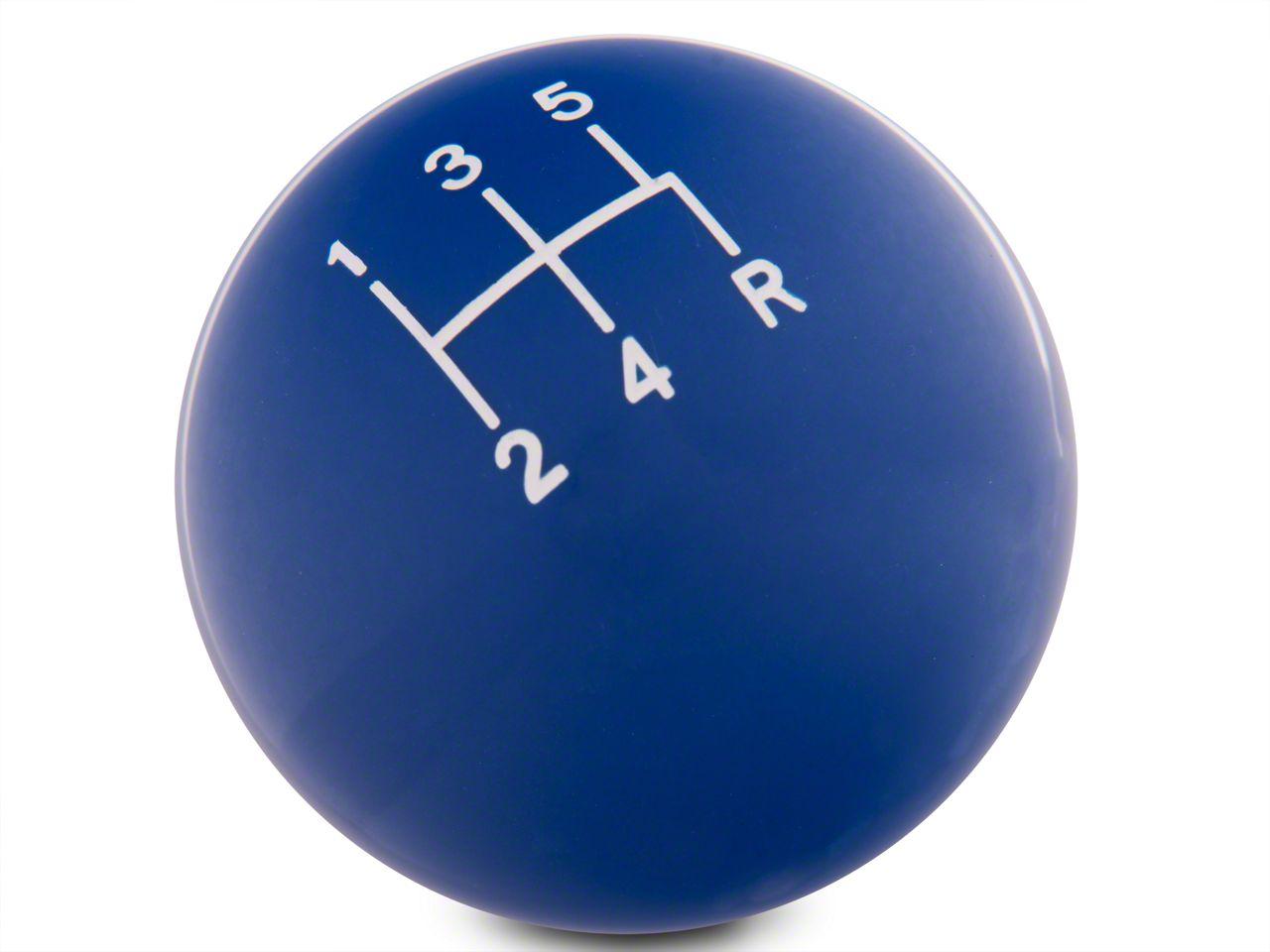 Modern Billet Retro Style 5-Speed Shift Knob - Blue (79-04 All, Excluding 03-04 Cobra)