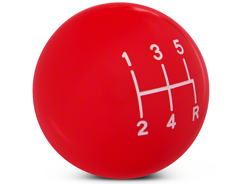 Modern Billet Retro Style 5-Speed Shift Knob - Red (05-10 GT, V6)