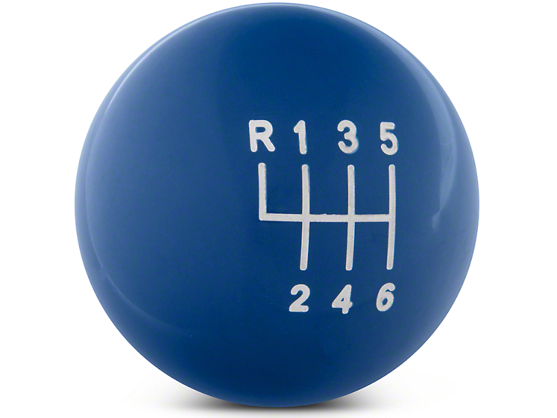 Modern Billet Retro Style 6-Speed Shift Knob - Blue (11-14 GT, V6)