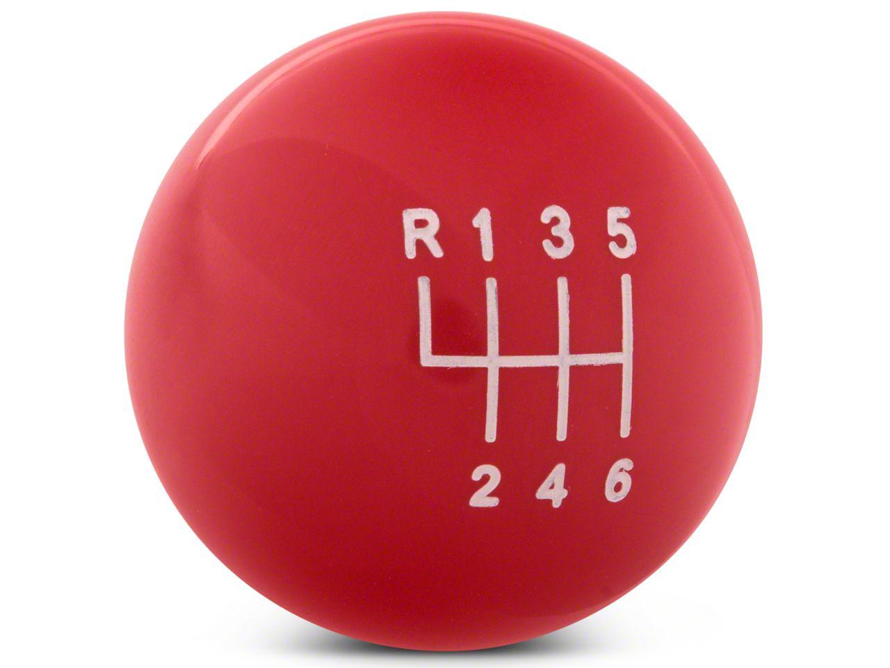 Modern Billet Retro Style 6-Speed Shift Knob - Red (11-14 GT
