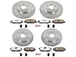 Power Stop Z26 Street Warrior Brake Rotor & Pad Kit - Front & Rear (05-10 GT)