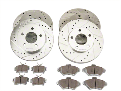 Power Stop Z26 Street Warrior Brake Rotor & Pad Kit - Front & Rear (94-98 GT, V6)