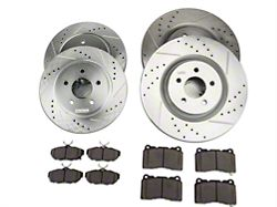 Power Stop Z26 Street Warrior Brake Rotor and Pad Kit; Front and Rear (11-14 GT Brembo)