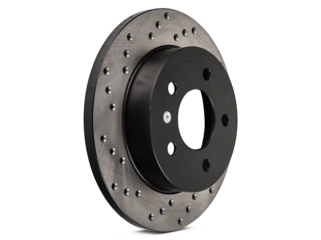 StopTech Sport Cross-Drilled Rotors - Rear Pair (94-04 GT, V6)