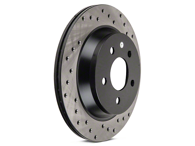StopTech Sport Cross-Drilled Rotors - Rear Pair (94-04 Bullitt, Mach 1, Cobra)