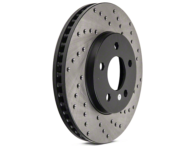 StopTech Sport Cross-Drilled Rotors; Front Pair (05-10 V6)
