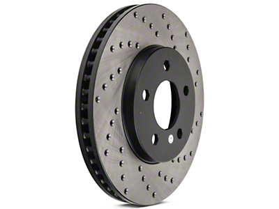 StopTech Sport Cross-Drilled Rotors - Front Pair (05-10 V6)
