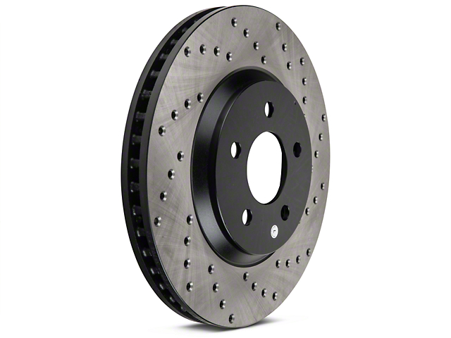 StopTech Sport Cross-Drilled Rotors - Front Pair (05-10 GT; 11-14 V6)