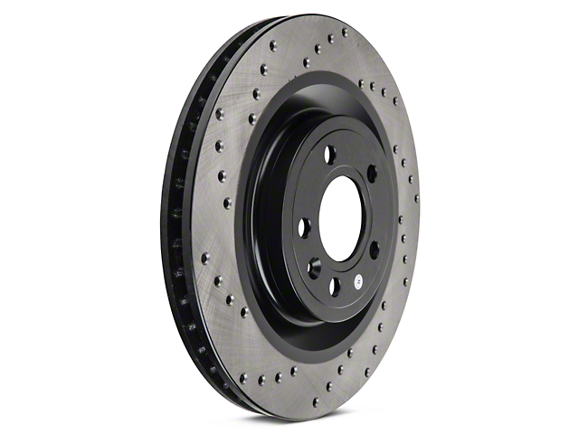 StopTech Sport Cross-Drilled Rotors - Front Pair (11-14 Standard GT)