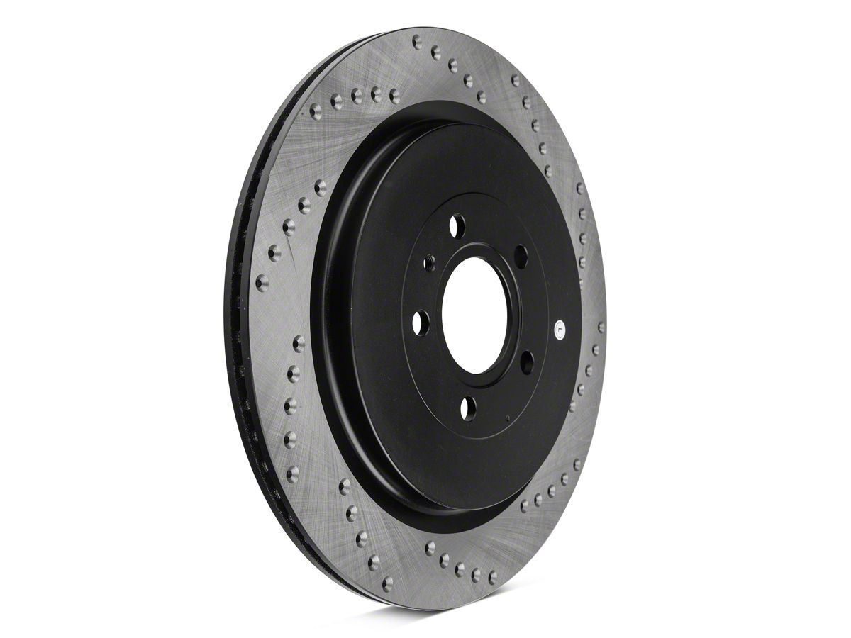 Cross Drilled Rotors >> Stoptech Sport Cross Drilled Rotors Rear Pair 13 14 Gt500