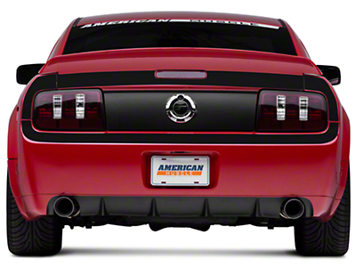 American Muscle Graphics Matte Black Rear Surround Decal - Upper & Lower (05-09 All)