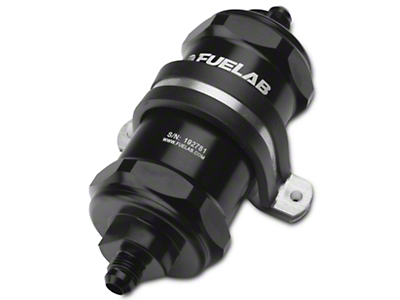 Fuelab In-Line Fuel Filter - 10 micron paper / 6AN (79-18 All)