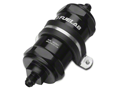 Fuelab In-Line Fuel Filter - 40 micron stainless steel / 6AN (79-18 All)