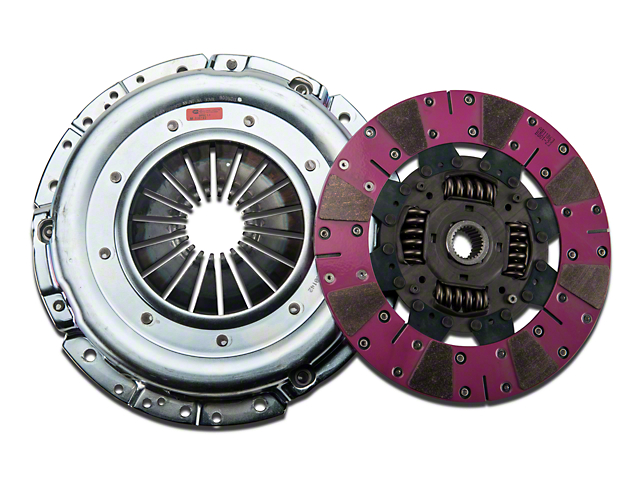 Exedy Mach 600 Stage 4 Cerametallic Clutch Kit w/ Cushion Button Disc, 8-Bolt Flywheel & Hydraulic Throwout Bearing - 26 Spline (07-14 GT500)