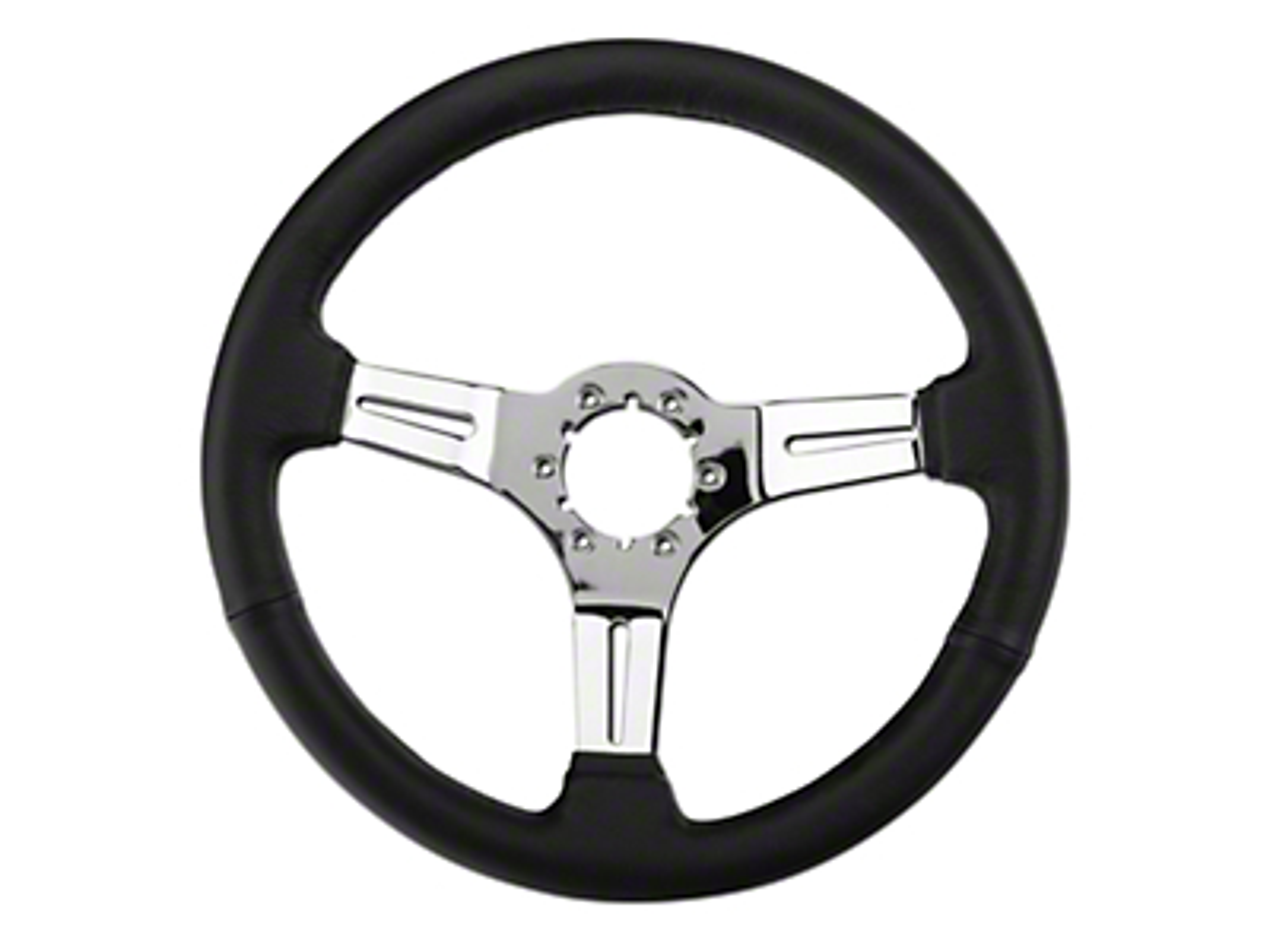 Alterum Black Leather Steering Wheel (79-04 All)