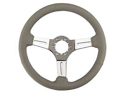 Alterum Gray Leather Steering Wheel (79-04 All)