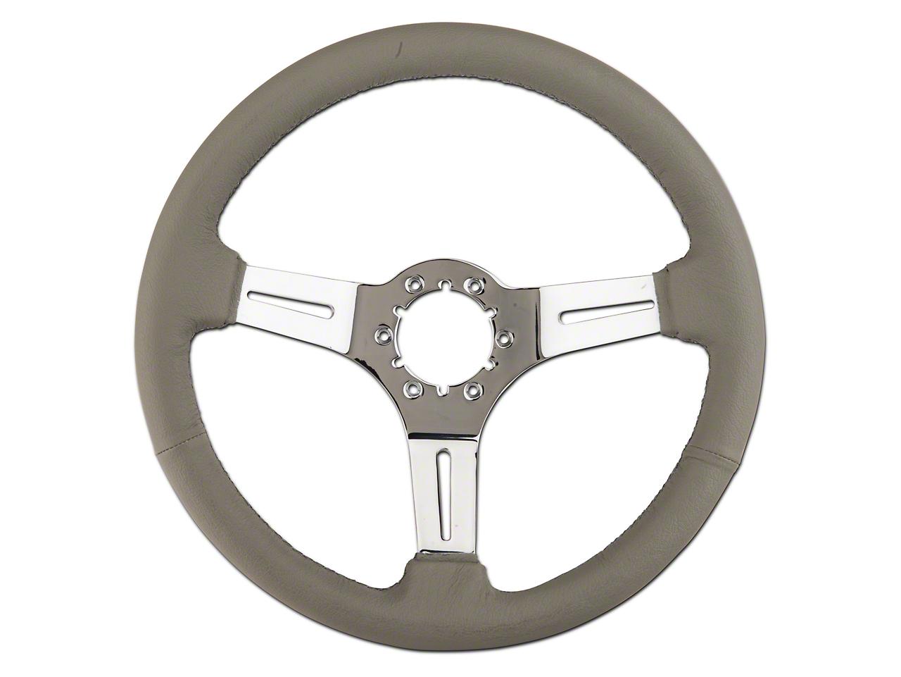 Alterum Gray Leather Steering Wheel (79-04 All)