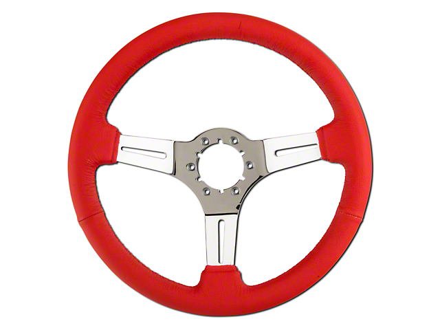 Alterum Red Leather Steering Wheel (79-04 All)