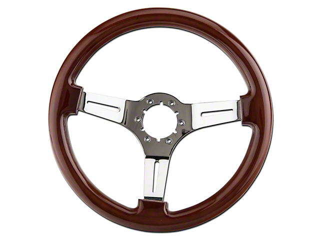 Alterum Wood & Chrome Steering Wheel (79-04 All)