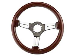 Alterum Wood Steering Wheel; Chrone Center (79-04 All)
