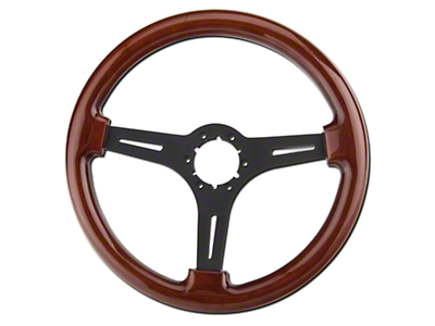 Alterum Wood & Black Steering Wheel (79-04 All)