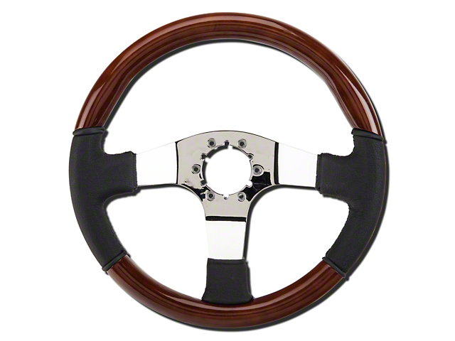 Wood and Leather Steering Wheel (79-04 All)