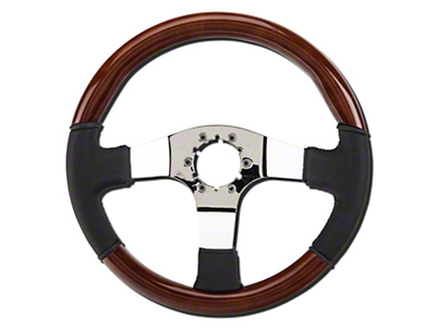 Alterum Wood & Leather Steering Wheel (79-04 All)
