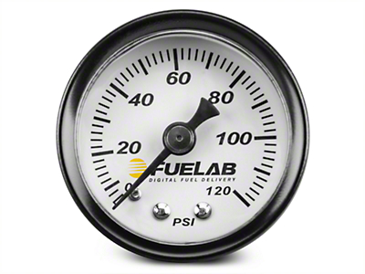 Fuelab Fuel Pressure Gauge - 1.5 in. (86-18 All)