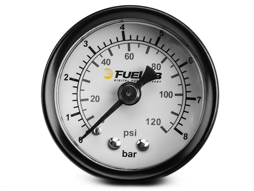Fuelab Fuel Pressure Gauge - 1.5 in. Dual Bar/PSI Scale (86-18 All)