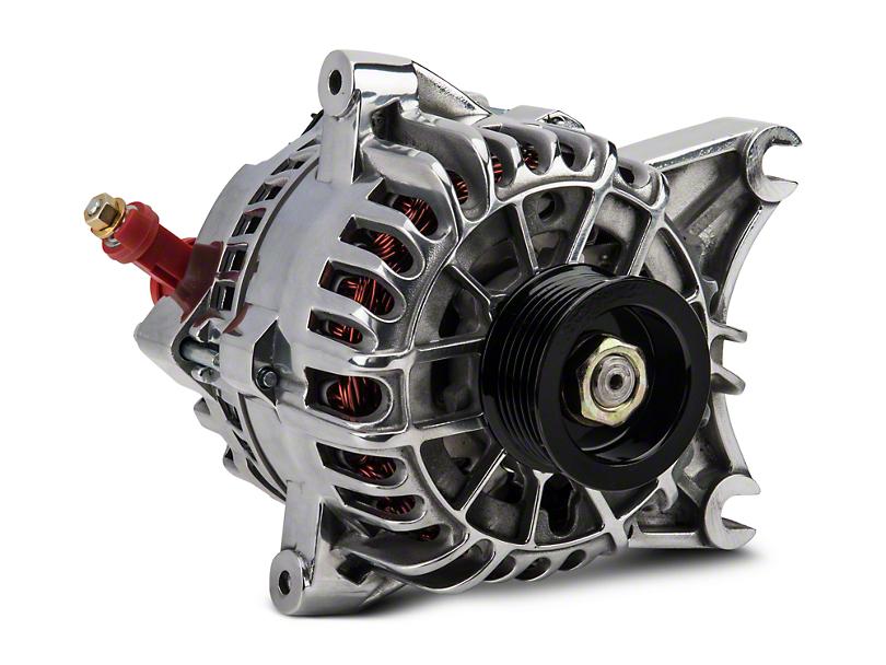 PA Performance 130 Amp Alternator - Polished (01-04 V6)