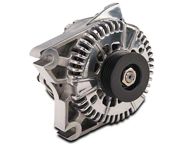 PA Performance Alternator - 130 Amp - Polished (96-01 Cobra, Bullitt; 03-04 Mach 1)