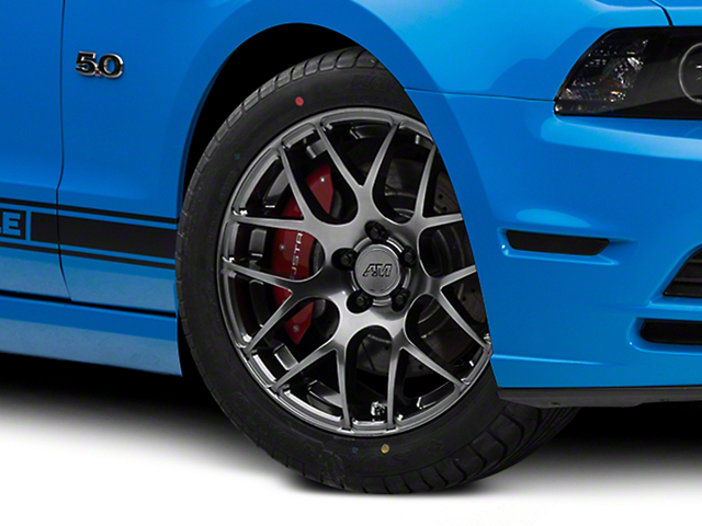 AMR Dark Stainless Wheel; 18x8 (10-14 All, Excluding 13-14 GT500)