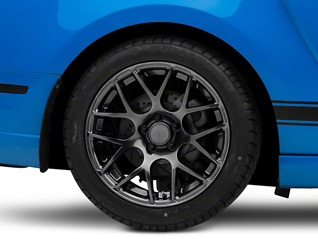 AMR Dark Stainless Wheel; Rear Only; 18x10 (10-14 All, Excluding 13-14 GT500)