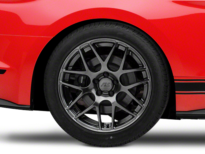 AMR Dark Stainless Wheel - 19x10 - Rear Only (15-19 GT, EcoBoost, V6)