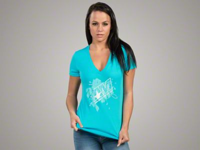 AmericanMuscle Women's Floral T-Shirt - Large