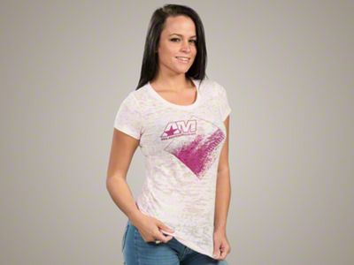 AmericanMuscle Women's Burnout T-Shirt - Medium