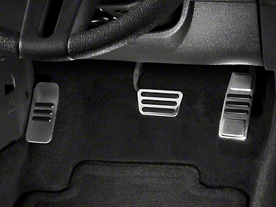 GT500 Style Pedal Covers (05-14 GT, V6 w/ Automatic Transmission)