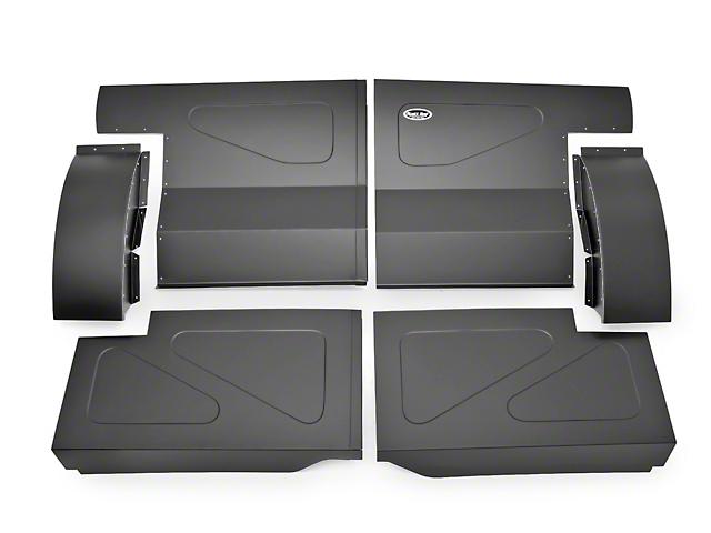 SpeedForm Scott Rod Fabrication Aluminum Rear Seat Delete Kit - Black - Coupe (87-93 All)