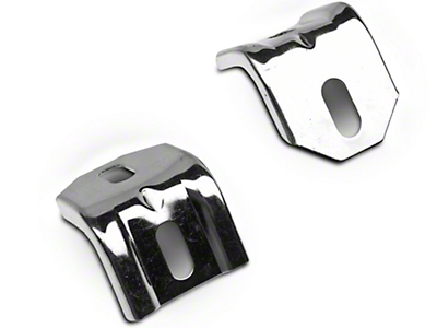 Scott Drake Polished Stainless Steel Lower Radiator Brackets (83-93 5.0L)